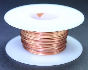 Copper Square Wire 20ga 0.81mm Soft (Approx. 60.5ft)  (CSW20)