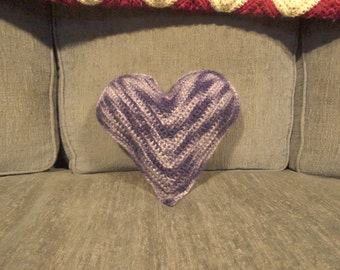 """9"""" x 9"""" Blue and White Throw Pillow - Heart Shaped Pillow - Heart Travel Pillow - Decorative Pillows for Couch - Housewarming Gift"""