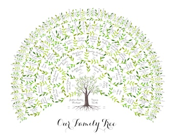 Family Tree Chart | Watercolor | Family Tree Art | Custom Family Tree | Family Tree Gift | Watercolor | Personalized | 6 Generations