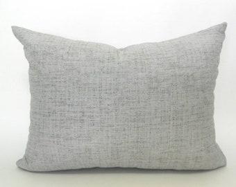 """CLEARANCE SALE 16""""x12""""  Outdoor Lumbar Pillow Cover Grey Pillow Robert Allen Outdoor Weavescene Grey"""