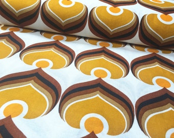Vintage 70s Dekoplus: 50cmx 1, 20m yellow pattern