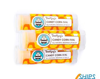 Candy Corn-ival Beeswax Lip Balm (3 Pack)