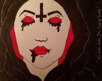 "Framed Marker Drawing ""Saintly"""