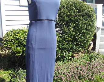 Blue vintage dress with zippers Size 8