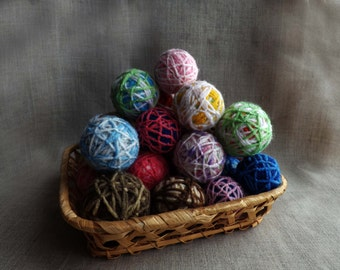 """Toy for cat """"ball of yarn"""", a set of balls 2, 3 or 4 pieces, ball cat toy ball for a cat, a ball of yarn for cats"""