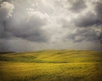 """Gray Storm Clouds, Landscape Photography, Large Wall Art, Fine Art Photography, Rustic Decor, Landscape Print """"Stormy Weather"""""""