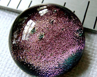 Dichroic Fused Glass Cabochon 22 mm Pale Pink Beauty