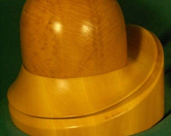 Wooden hat blocks for millinery - jockey hat