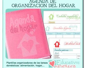 Agenda organizadora para el hogar imprimible - español-