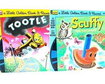Little Golden Book & Record Sets Tootle and Scuffy The Tugboat