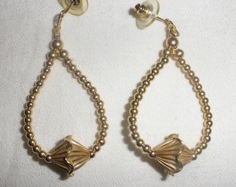 Gold Fancy Bead Earrings