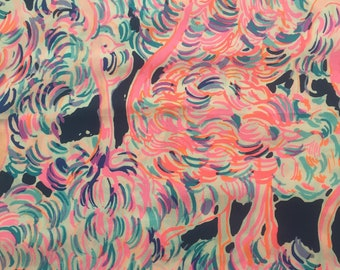 """multi head in the sand dobby cotton fabric square 18""""x18"""" ~ lilly pulitzer"""