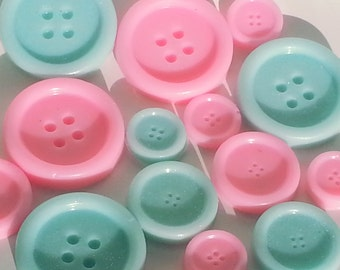 25 Button Soap Sets, Cute As A Button Soap Favors, Button Baby Shower, Quilting Favors, Button Birthday Favor, Sewing Gift, Wedding, Bridal