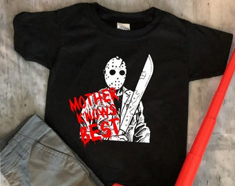 Jason - Mother Knows Best- Horror - Toddler - Kids - Adult Tee - Cult classic -
