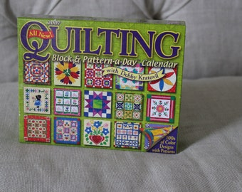 Quilting Block & Pattern-a-Day Calendar 2007 with Debby Kratovil