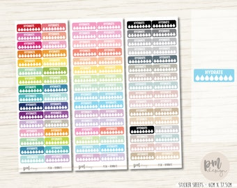 Hydrate Daily Stickers - Planner Stickers - FS18