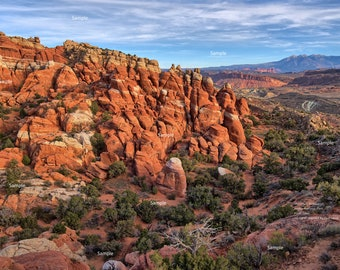The Fiery Furnace  in Arches National Park Moab Utah Devil's Garden Red Rock Desert Photo Poster Print
