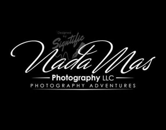Custom photography logo, black and white logo, photography watermark, photographer logo, signature text logo, business logo design