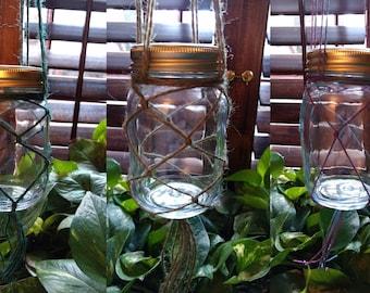 Hanging Mason Jar Planter