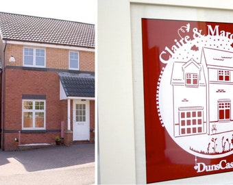 Personalised Home Paper Cut