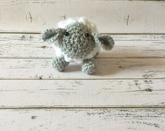 Sheep Plush| Crochet Sheep| Lamb Plush| Lamb Crochet| Little Lamb plush| Lamb Baby Shower| Lamb Nursery| Lion and the Lamb