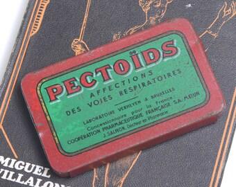 Medicine tin, vintage medicine, vintage tin, doctors gift, vintage pharmacy, vintage apothecary, medicine, medical, french vintage, tin box