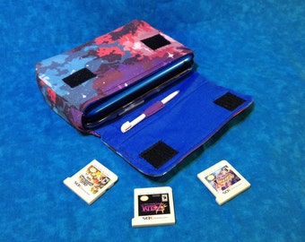 Pixel Nebula 3DS / 3DS XL / New 3DS Carrying Case - Galaxy & Space Themed MADE To ORDER