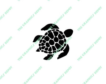 Sea Turtle SVG, EPS, PNG files - Instant Download - Cut Files - Digital Clipart - Vector Graphics - Cricut - Silhouette Cameo