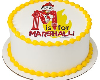 Paw Patrol M is for Marshall Edible Cake Topper