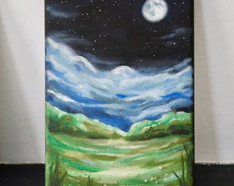 Sing Me Moonstruck - Original landscape oil painting