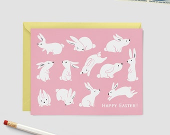 Happy Easter Card Set - Boxed Cards - Easter Bunnies Design
