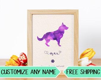 P02 Custom Dog Silhouette Personalized Pet Art