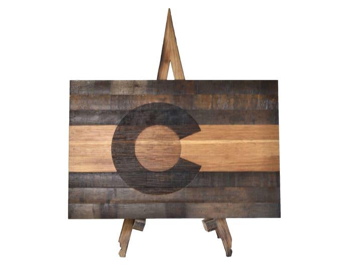 Colorado State Bourbon Whiskey Barrel Flag