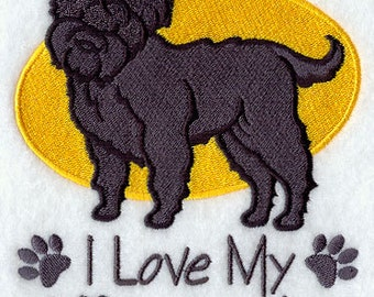I Love My Affenpinscher Embroidered Flour Sack Hand/Dish Towel