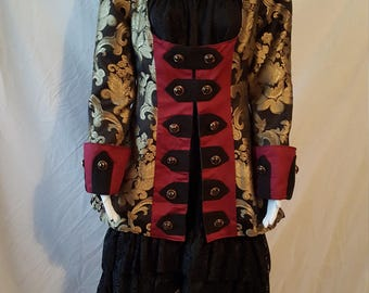 Female Pirate Coat, Airship Captain, Costume, Size 6-26, Made to Order