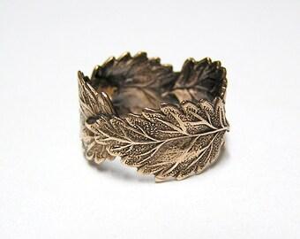 Forest Leaf Ring band (br)