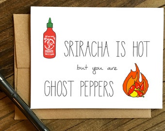 Funny Love Card - Anniversary Card - Card for Husband - Card for Boyfriend - Ghost Peppers.