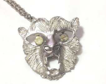 Vintage Animal Face Necklace