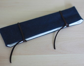 Sock Keeper, Waxed Canvas Sock Keeper with leather wraps