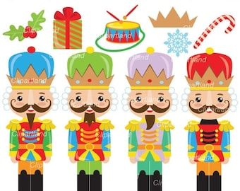ON SALE INSTANT Download. Christmas nutcrecker clip art. Cn_1. Personal and commercial use.