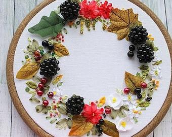 home sweet home, embroidery art, hoop art, silk ribbon embroidery, nature art, embroidery art, hoop art, silk ribbon embroidery, 3d art,