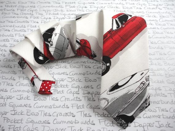 E Type Jaguar Tie, ties for men, necktie