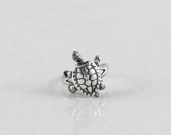 Sterling Silver Turtle Ring Size 5 3/4