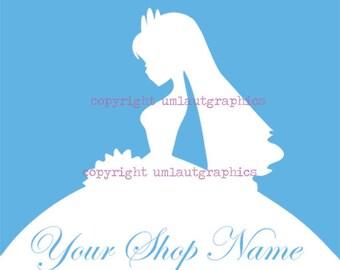 Pre Made Wedding Bridal Dress Etsy Shop Logo