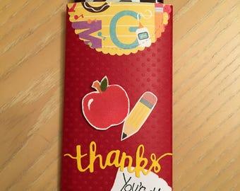 Teacher appreciation gift, Hersheys chocolate wrapper, Candy bar wrapper