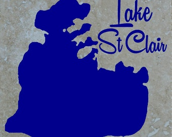 Set of 4 Lake St Clair Coasters Free Shipping
