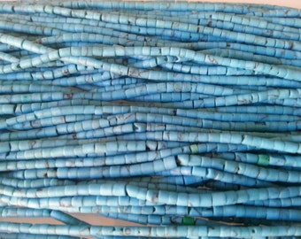 Set of 25 turquoise blue lines