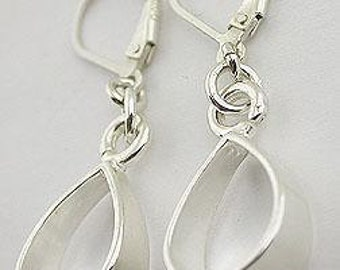 Sterling Silver Lever Back Earrings 20