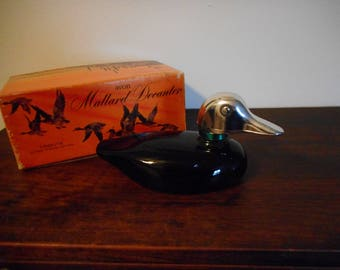Vintage Avon Mallard Decanter Full bottle of Tribute After Shave Lotion