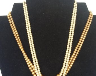 On Sale Two Pearl Necklaces w/ Sterling Silver Clasps